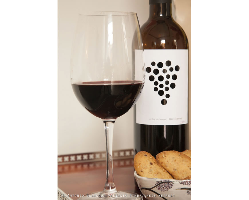 Enjoy a glass of local wine from honesty minibar by voluntary donation.