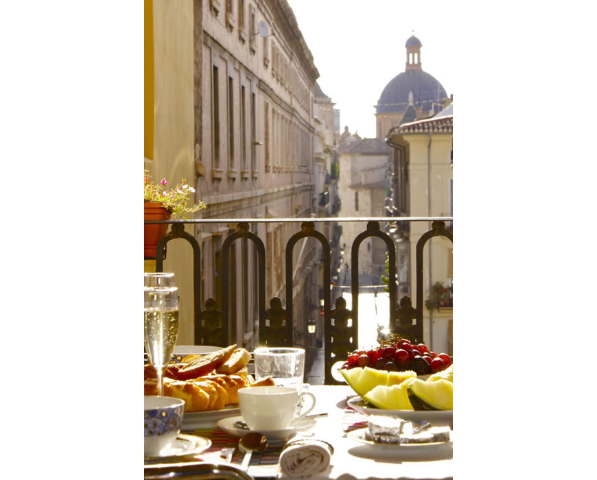 Your quiet street view at your organic five star breakfast experience.