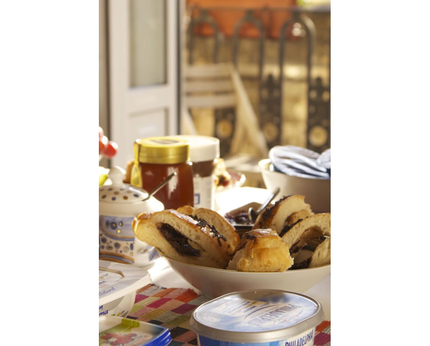 Chocolate croissants, hot apple pie, fresh breads and pastries from local bakery