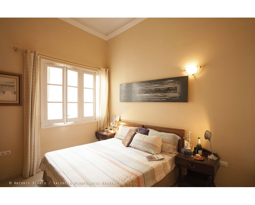 Comfortable bedrooms in Valencia, so much more mindful than a hotel.