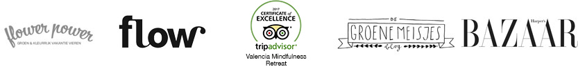 Valencia Bed and Breakfast Valencia Mindfulness Retreat recommended by: TripAdvisor Excellence, Flow Magazine, FlowerPower, De Groene Meisjes and Harper's Bazaar